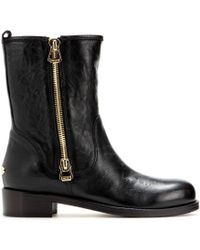 Jimmy Choo Disguise Leather Biker Boots - Lyst