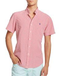 Polo Ralph Lauren Checked Seersucker Sportshirt - Lyst