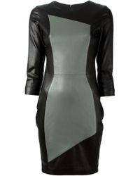 Prabal Gurung Colour Block Leather Dress - Lyst