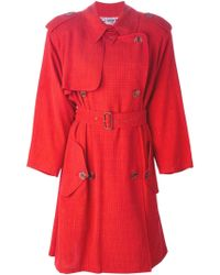 Jean Paul Gaultier Belted Trench Coat - Lyst
