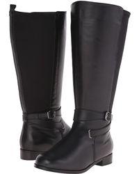 Rose Petals Tamara Extra Wide Shaft Boot - Black