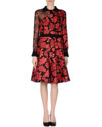 Emanuel Ungaro Knee-Length Dress red - Lyst