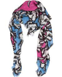 Diane von Furstenberg Hanover Poppy Leopard-Print Scarf - For Women - Lyst