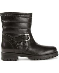 Pollini Black Biker Boots - Lyst
