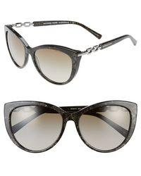 Michael Kors Collection 56Mm Cat Eye Sunglasses - Lyst