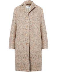 Acne Studios Pink Tessa Trash Tweed Boulce Wool-blend Coat