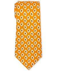 Altea - Orange Silk Tie - Lyst