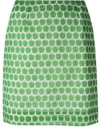 Peter Jensen Apple Print Straight Skirt - Lyst