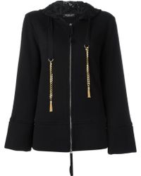 Twin Set Chain And Lace Hoodie - Black