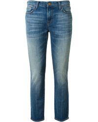 J Brand Cropped Ellis Jeans - Lyst