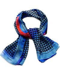 Proenza Schouler Printed Silk-Chiffon Scarf multicolor - Lyst