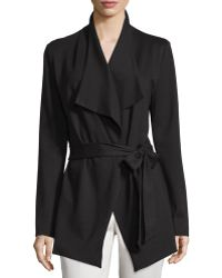 A.Z.I. | Ponte Belted Wing-collar Jacket | Lyst