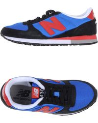 New Balance Blue Lowtops  Trainers - Lyst