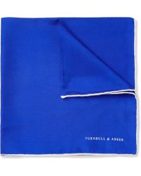 Turnbull & Asser Contrastedge Silk Pocket Square - Lyst