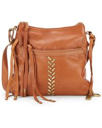 Lucky Brand - Charlotte Leather Zip Crossbody Bag - Lyst