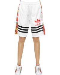 adidas Originals - Techno Jersey & Printed Mesh Shorts - Lyst