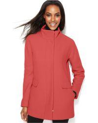 Calvin Klein Wool-blend Walker Coat - Lyst