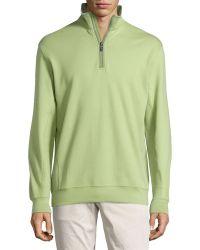 Bobby Jones Leaderboard Quarter-Zip Pullover Sweatshirt - Green
