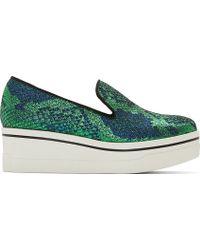 Stella McCartney Blue and Green Scarpa Platform Skate Sneakers - Lyst