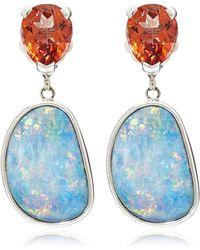 Stephen Dweck - Silver Topaz And Opal Drop Earrings - Lyst