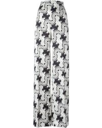 Holly Fulton - Printed Wide Leg Trousers - Lyst
