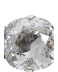 Isabel Marant - Silver Swarovski Crystal Embellished Bow Brooche - Lyst