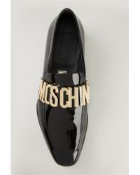 Moschino - Logo Plaque Slippers - Lyst