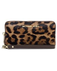 MICHAEL Michael Kors Jet Set Hair Calf Travel Phone Case - Lyst