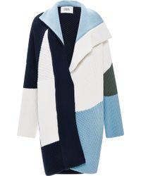 Prabal Gurung Ribbed Wool Knit Coat - Lyst