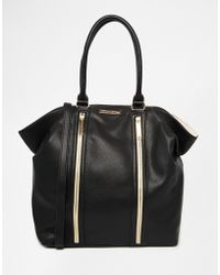Little Mistress - Large Hobo Bag With Gold Trim - Lyst