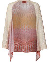 Missoni Long Sleeve Batwing Cardigan pink - Lyst