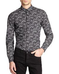 The Kooples Floral Print Cotton Shirt - Lyst