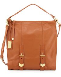 Badgley Mischka Helena Leather Shoulder Bag - Lyst