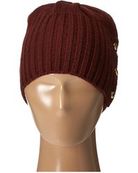 MICHAEL Michael Kors Jersey Shallow Hat With Buttons - Purple