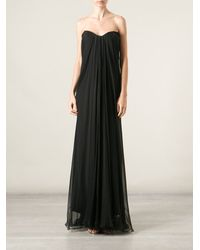 Alexander McQueen Draped Bustier Gown - Lyst