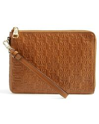 Tory Burch 'Embossed T - Large' Smartphone Wristlet - Lyst