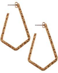 Lucky Brand - Triangle Chain Drop Earrings - Lyst