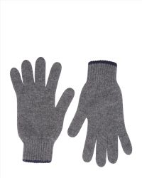 Jaeger Cashmere Knitted Gloves - Gray