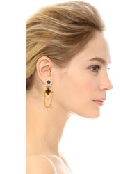 Dannijo Nadia Earrings  Golditalian Olivine - Lyst