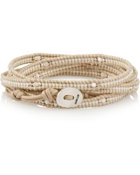 Chan Luu - Beaded And Leather Wrap Bracelet - Lyst