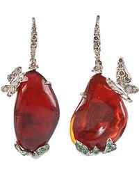 Arunashi - Opal And Diamond Butterfly Earrings - Lyst