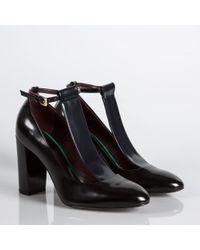 Paul Smith Radley T-Bar Leather Court Shoes - Black