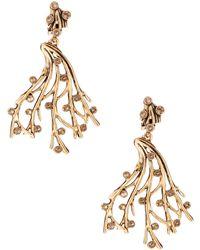 Oscar de la Renta Swarovski Crystal Vine Earrings - Lyst