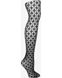 Fogal - Oval Patterned Tights - Lyst