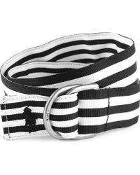 Ralph Lauren Striped Grosgrain Reversible Belt Xs-l - Lyst