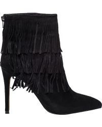 Steve Madden | Flappper Black Suede Boot | Lyst