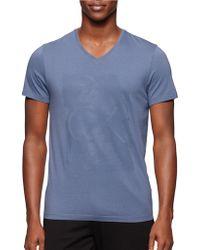 Calvin Klein One Paint Tonal Graphic T-Shirt blue - Lyst