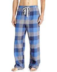 Kenneth Cole Reaction Blue Flannel Drawstring Pajama Pants