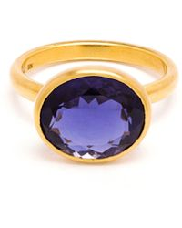 Marie-hélène De Taillac Princess Cut Amethyst Ring purple - Lyst