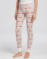 Wildfox Leggings - Fox Print Thermal Knit - Lyst
